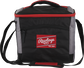 Front of a black Rawlings 24 can soft sided cooler with a red Rawlings patch embroidered on the front - SKU: 10224043511 image number null