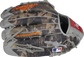 Camo mesh back of a Trent Grisham G57 Heart of the Hide glove with a MLB logo on the pinky - SKU: RSGPRO3029-TG2 image number null