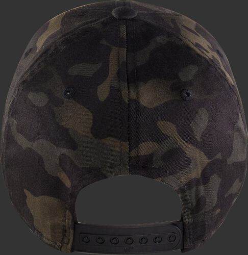 Back View of Rawlings Black Clover Special Edition Camouflage Snapback Hat - SKU #BCRBCM0061