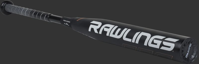 FPQP10 Rawlings fastpitch -10 bat with a black barrel and black/grey grip