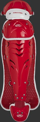 Scarlet SBLGVI Velo intermediate softball leg guards