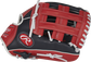 Thumb of a navy/scarlet 2022 Breakout 12-Inch youth outfield glove with a scarlet Pro H-web - SKU: RSGBOYPT6-6NS image number null