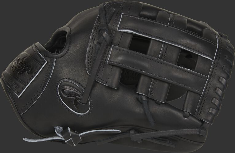 Thumb of a black PROKB17-6B Heart of the Hide Pro Label 12.25-inch glove with a black H-web