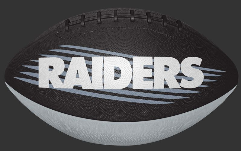 Black and Silver NFL Oakland Raiders Downfield Youth Football With Team Name SKU #07731072121