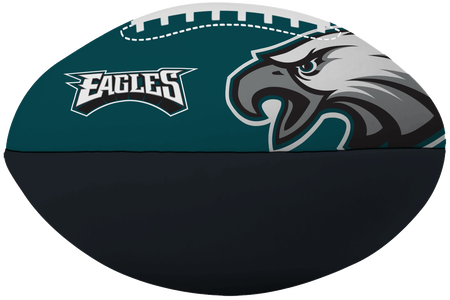 NFL Philadelphia Eagles Big Boy softee football printed in team colors and featuring team logos