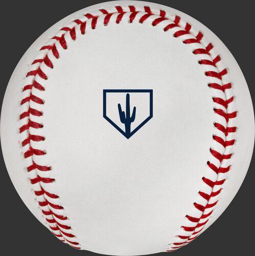 The official MLB Spring Training Arizona 2019 logo stamped on the ROMLBSTAZ19 baseball