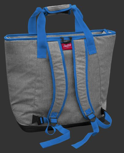 Back of a Carolina Panthers tote cooler with backpack straps - SKU: 10311090111