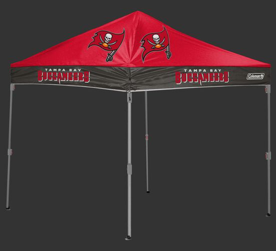 Rawlings Red and Grey NFL Tampa BayBuccaneers 10x10 Canopy Shelter With Team Logo and Name SKU #03221086111