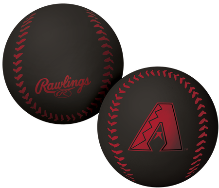 A black Arizona Diamondbacks Big Fly rubber bounce ball