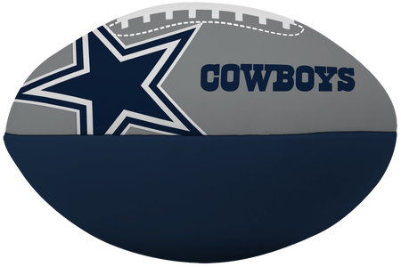 NFL Dallas Cowboys Big Boy softee football in team colors and with the team logo