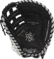PROFM19SB-17BW Rawlings 13-inch softball first base mitt with a black palm and black laces image number null