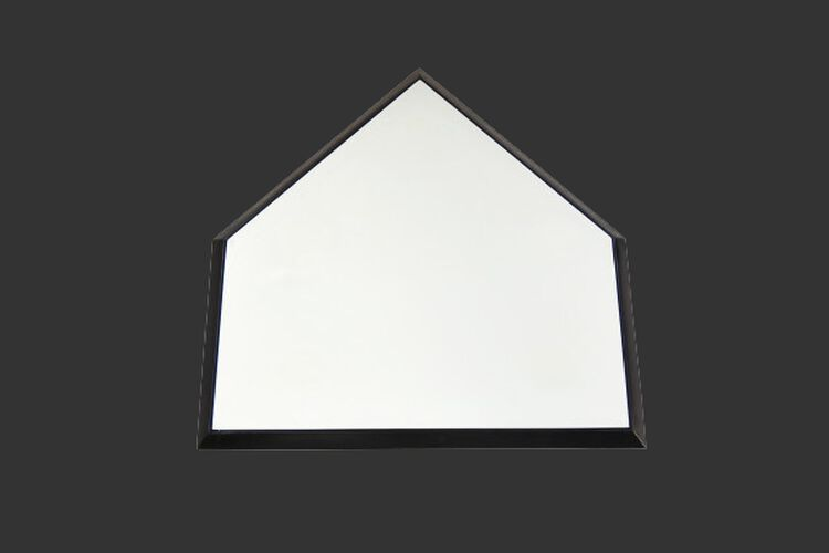 Rawlings White Deluxe Home Plate With Black Trim SKU #RDHOMPLT