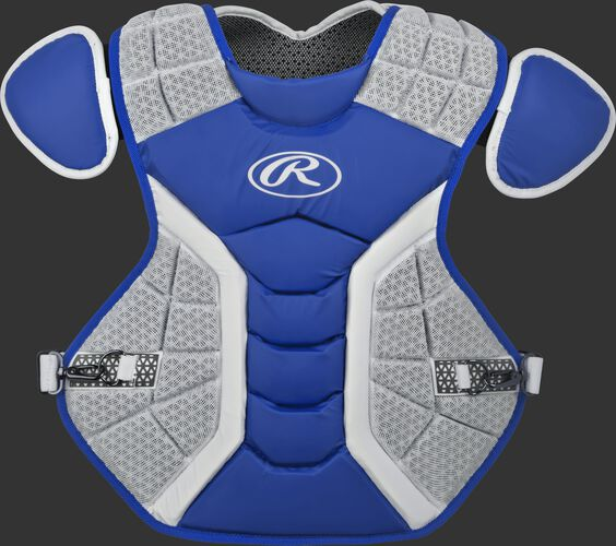A royal/grey CPPRO Pro Preferred adult chest protector