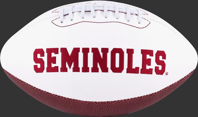 White NCAA Florida State Seminoles Football With Team Name SKU #05733020122