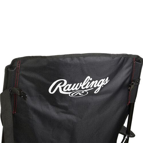 Back of Rawlings Black High Back Chair With Rawlings Name SKU #09404043511