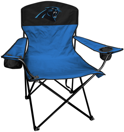 NFL Carolina Panthers Lineman chair with team colors and logo on the back