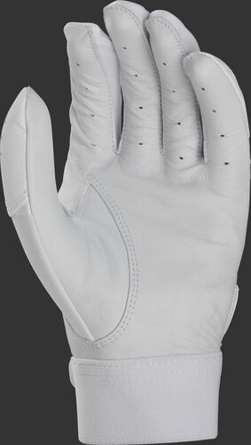 White palm of a white Rawlings 5150 batting glove - SKU: BR51BG-W