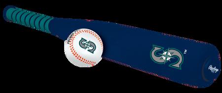 MLB Seattle Mariners Foam Bat and Ball Set