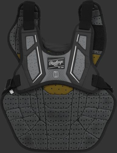 Back harness of a black CPV2N intermediate Velo 2.0 chest protector with Dynamic Fit System 2.0