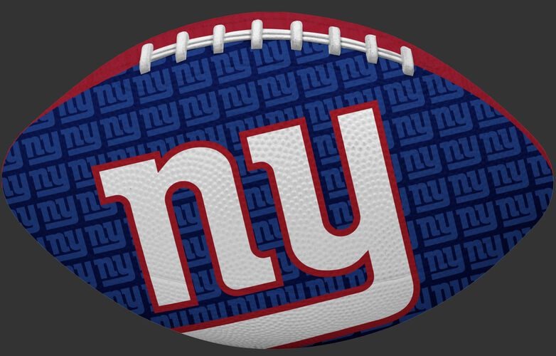 Blue side of a NFL New York Giants Gridiron football with the team logo SKU #09501078122