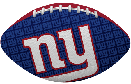 Blue side of a NFL New York Giants Gridiron football with the team logo