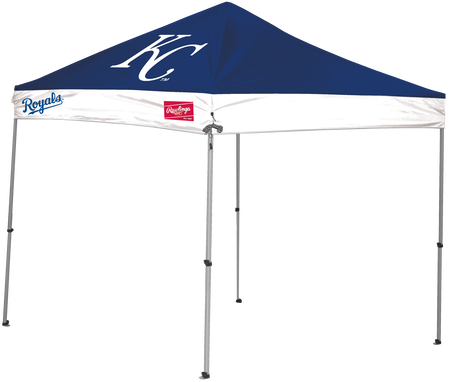 MLB Kansas City Royals 9x9 canopy shelter with a large printed team logo and team name on the sides