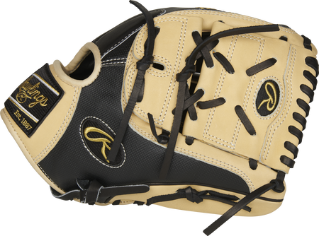 Thumb view of a PRO206-9BCSS Heart of the Hide 12-inch Speed Shell infield/pitcher's glove with a camel 2-piece solid web