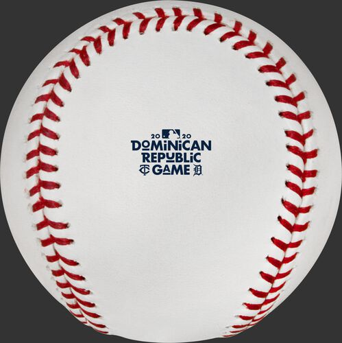 The 2020 Dominican Republic Series logo stamped on a MLB baseball - SKU: ROMLBDRS20