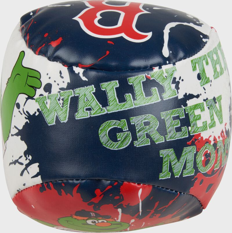 Top of Rawlings Boston Red Sox Quick Toss 4'' Softee Baseball With Team Mascot Name On Front In Team Colors SKU #01320024112