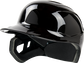 Front angle of a Mach single ear batting helmet for a left handed batter - SKU: MSE01A-LHB image number null