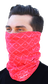 A guy wearing a red Rawlings adult multi-functional head and face cover around his mouth and nose - SKU: RC40005-600 image number null