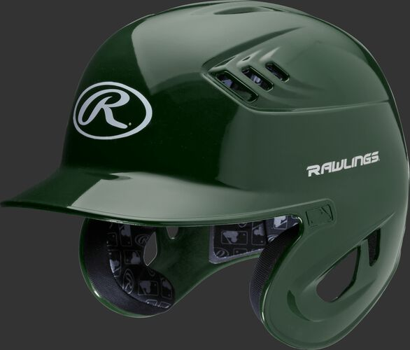 Coolflo High School/College Batting Helmet Dark Green