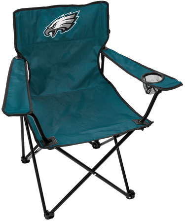 Front of Rawlings Midnight Green NFL Philadelphia Eagles Gameday Elite Chair With Team Logo SKU #00551080111