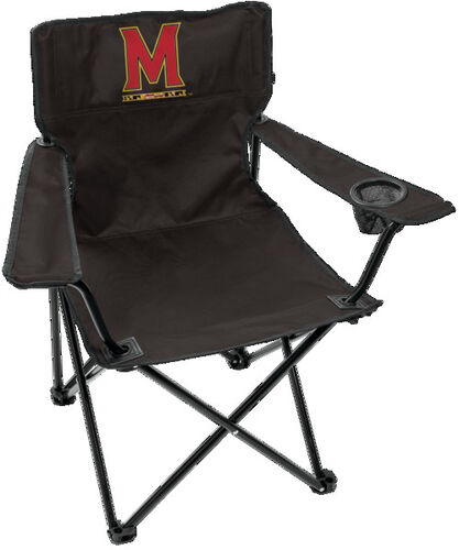 Front of Rawlings Black NCAA Maryland Terrapins Gameday Elite Chair With Team Logo SKU #00563080111