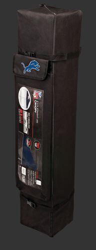 Black carry case of a 9x9 Detroit Lions canopy with a team logo on the side compartment - SKU: 03231067113