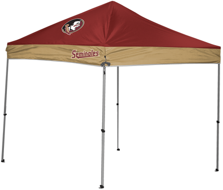 A NCAA Florida State Seminoles 9x9 canopy shelter with a team logo printed on top