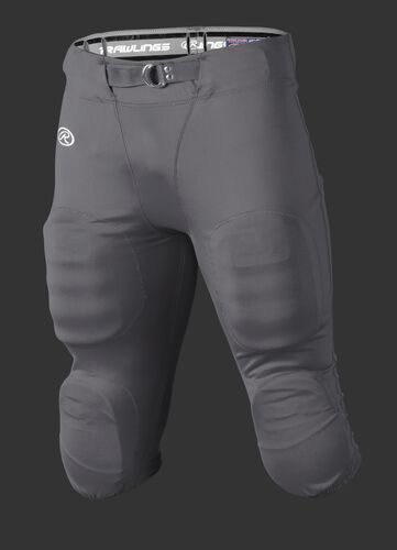 Front of Rawlings Gray Adult Slotted Football Pant - SKU #FP147