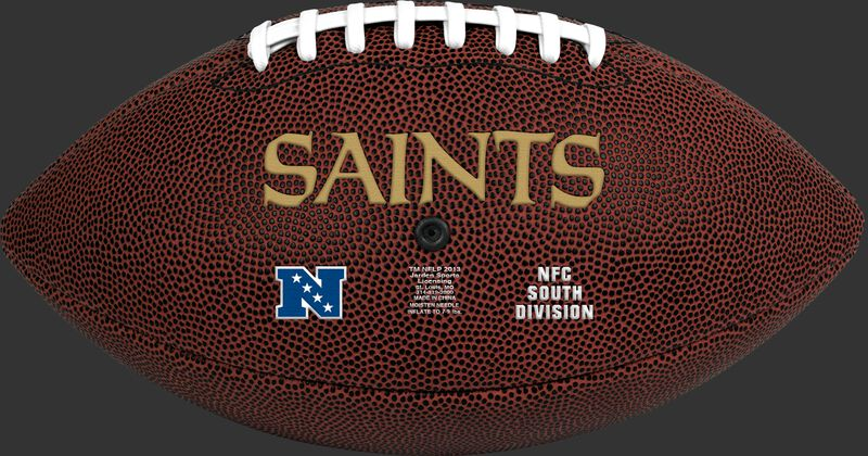 Brown NFL New Orleans Saints Football With Team Name SKU #07081077811