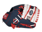 Thumb of a navy, white & red Minnesota Twins 10-inch glove with a white I-web and Twins logo on the thumb - SKU: 22000028111 image number null
