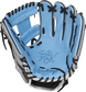 PRO204-2CBH Rawlings ColorSync 4.0 infield glove with a columbia blue palm and black laces image number null