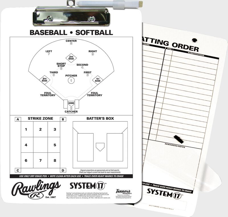 Rawlings White System-17 Scorebook For Baseball and Softball SKU #17SB