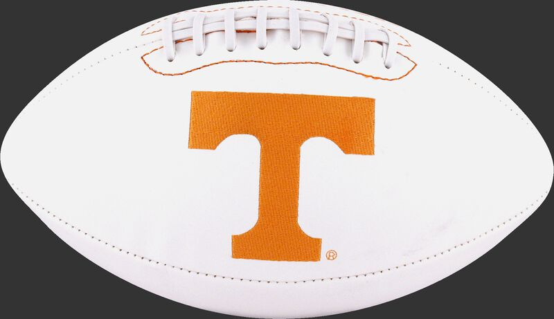 White NCAA Tennessee Volunteers Football With Team Logo SKU #05733101121