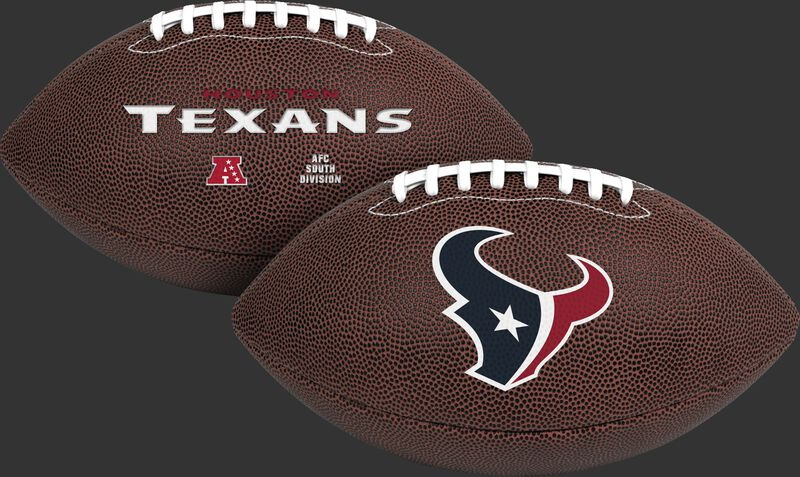NFL Houston Texans Air-It-Out youth football with team logo and team name SKU #08041093121