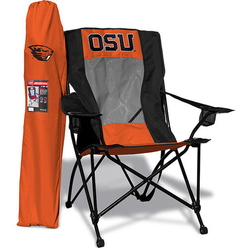 Front of Orange and Black NCAA Oregon State Beavers High Back Chair With Team Logo SKU #09403048518