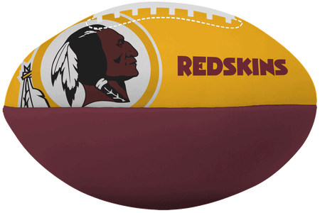 NFL Washington Redskins Big Boy softee football featuring team logos and printed in team colors