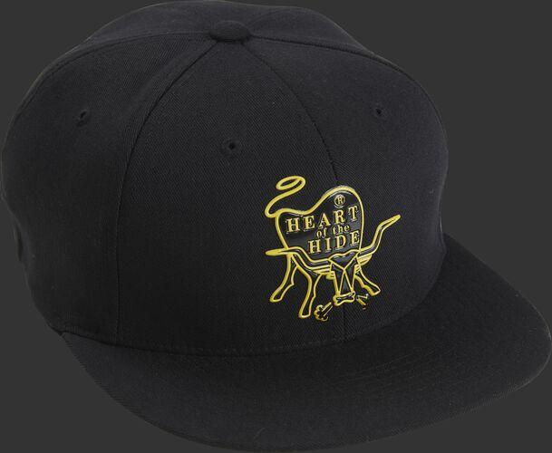 Front Side of Rawlings Black Heart Of The Hide Logo Trucker Hat - SKU #RWPPH