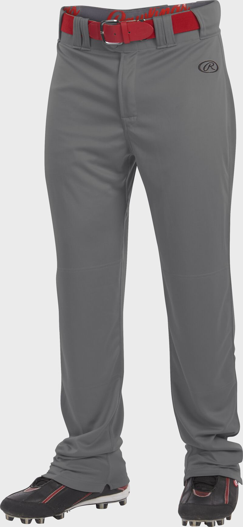 Front of Rawlings graphite Adult Launch Semi-Relaxed Pant - SKU #LNCHSR
