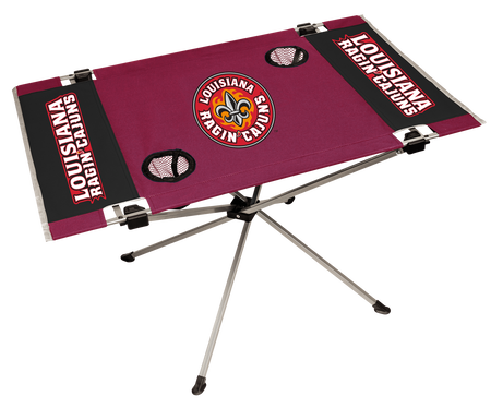 NCAA Louisiana Ragin' Cajuns Endzone table with team colors and team logos