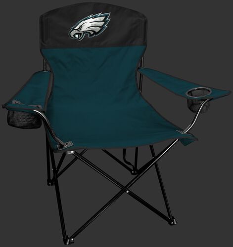 Front of Rawlings Green and Black NFL Philadelphia Eagles Lineman Chair With Team Logo SKU #31021080111