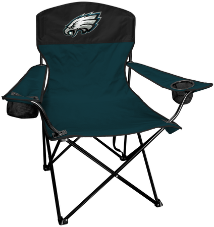 NFL Philadelphia Eagles Lineman chair with team colors and logo on the back